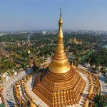 Pagode d'or de Shwedagon, destination des bouddhistes