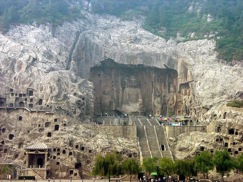 Chine - Luoyang - Longmen grottes